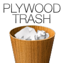 Plywood Trash Icon